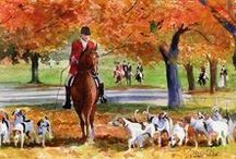 Fox Hunting Equestrian / Fox hunting, hunting with the hounds, eventing
