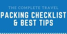 Travel Packing Tips / packing tips, packing tricks, packing a carry-on, packing a checked bag, best ways to pack, packing infographics, packing for a vacation, packing for a trip, minimalistic packing, spring packing, summer packing, fall packing, winter packing, packing for europe, and more