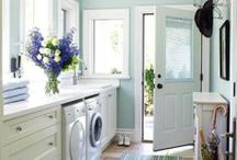 laundry rooms / The laundry room doesn't have to be a sad place. Fall in love again with laundry.