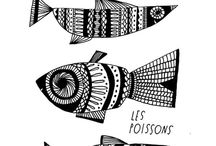 fish images / Images collected to inspire embroidery onto cushions.
