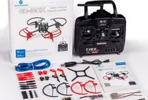 Small MWC quadcopter / Small quadcopter 6D-Box based on MWC (Multiwii) for Arduino (using ATMega328p), with professional RC, detailed guide on assembly, calibration, flying, etc. Great kit for starting!