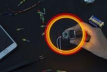 Make a Spinning LED Light / gorgeous spinning LED
