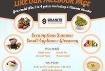 Scrumptious Summer Small Appliance Giveaway Contest / For an entire month Granite Transformations in Southern Ontario is giving away 4 exciting small appliances.  Enter contest on Facebook at http://woobox.com/yc9wzr