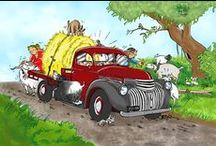 Hot Rods, bikes and other transportation / My cartoons about all sorts of vehicular transportation.