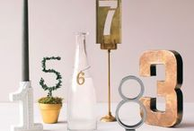 Wedding... Table Numbers / Creative ideas for your table numbers