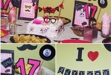 Teen B-day party Moustache -hipster / Adri's party :)