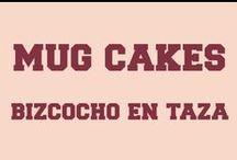Mug Cakes - Bizcocho en Taza / #MugCake o Bizcocho en Taza. Lo preparas en menos de 5 minutos y sólo necesita 2 minutos en el microondas Perfecto par quitarnos el gusanillo de algo dulce