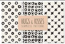 PATTERNS  packs / RESOURCES for graphic designers: packs of patterns and digital paper, made by independant artists