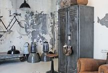 Industrial Style / DECO IDEAS: zinc made furniture and other accessories in industrial style
