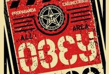 """Art by """"OBEY"""" / ILLUSTRATORS: the artwork of the illustrator and graffiter Shepard Fairey, """"OBEY"""""""