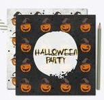 Halloween / Halloween ideas: vintage posters, graphic design resources, color inspiration, printables...