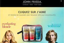 JohnFrieda / Produits soins cheveux et coiffage