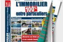 Journal L'immobilier 100% entre Particuliers / Consulter la version électronique de notre journal diffusant des milliers d'annonces de biens immobiliers en vente 100% entre Particuliers