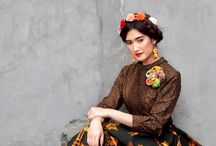 Batik Amarillis's Primavera / Let's enjoy the perfect balance between classic and contemporary with this beautiful multi colored collection and enjoying the beauty of Indonesia's traditional textile with spectacular Hungarian folk embroidery.