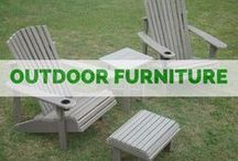 OUTDOORS :: Furniture / Imagine your backyard with outdoor swings and adirondack chairs or a beautiful pergola for enjoying your outdoor space.  Whatever your ideas are for the backyard, we can make them come to life!