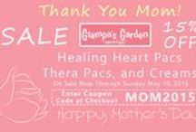 Mother's Day / Save 15% on Mothers Day Gifts at GrampasGarden.com.  On Sale through 5/10/2015  when you enter coupon code: MOM2015 at checkout.   Select Products at:  http://www.grampasgarden.com/mom2015.html  #mothers #day #gifts #sale