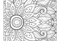 Zentangle/Doodles Coloring Pages