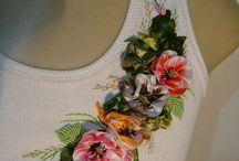 Вышивка и немного росписи по ткани