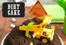 Construction Zone & Dirt Cake Birthday Party