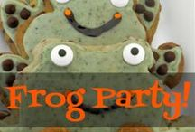 Frog Party / Reptiles! Kids birthday party ideas for those with a love of green, wet critters. Especially frogs and alligators.