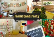 Farmstand / Garden / Farmers Market Party / Ideas for a farmstand or garden-themed kids birthday party. For the little gardener in your own backyard.
