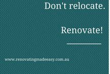 Renovating Made Easy / Shareable info graphics - handy tips and quotes on all things renovating