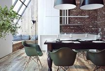 Industrial Decor / Decorating ideas to create the industrial look when renovating