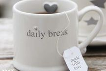 Cups, mugs, tea, coffee and more / All for breakfast, tea time, coffee