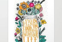 Words and pretty things / art, illustrations, quotes, and lettering / by Ann Frost