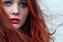 RED hair RED lips  / some one once told me that red heads can't wear red lipstick. oh please. this board is about why she was wrong. / by Elizabeth Gray Felty Forest