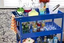 How to Style a Bar Cart / Dress up your favorite bar cart with these stylish picks!