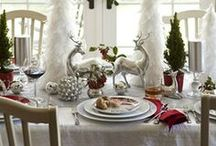 Christmas Dining Table  / Set the table in holiday style! http://www.wayfair.com/Christmas-decor / by Wayfair.com