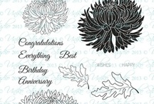 Uniko Pure Florals: Chrysanthemum / Inspiration using Uniko's Pure Florals Chrysanthemum clear stamp set