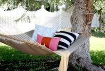 Let's Hang Out! Hammocks / Gently rock your way to relaxation in one these comfy hammocks. http://wayfair.ly/12qWJOP / by Wayfair.com