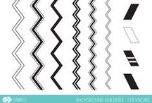 Uniko Background Builders: Chevrons / Projects made using Uniko Background Builders: Chevrons clear stamps