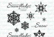 Uniko Stunning Snowflakes / A lovely graphic snowflake clear stamp set for card making & paper crafts.  www.uniko.co.uk