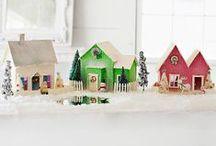 Christmas Houses and Bottle Brush Trees / by Nancy Schupple