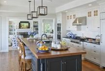 Coastal Kitchen / Give your kitchen a Coastal makeover after getting inspired by these Coastal Kitchen Ideas. Splashes of sea foam green and bright white dining furniture can give your kitchen a beach house feel that never goes out of style. Coastal kitchens can play with both modern and rustic themes, so check out these great ideas from our network of interior designers. http://wayfair.ly/1k91i8d / by Wayfair.com