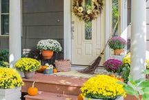 Fall Curb Appeal Ideas / Check out these stunning seasonal front entries from our favorite bloggers. / by Wayfair.com