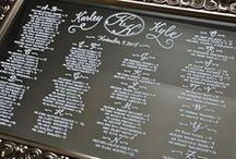 Mirror Seating Chart / Seating charts with hand calligraphy for your wedding day