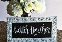 Wedding Chalkboard Calligraphy / Decorative chalkboards for your wedding day and beyond