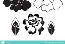 Uniko Beautiful Blooms II / Ideas & inspiration using Uniko's Beautiful Blooms II clear stamp set