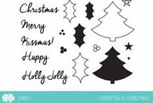 Uniko Essentially Christmas / Projects & examples using Uniko Essentially Christmas clear stamp set. New for 2015.