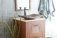 Small Bathroom Style / Create a calm & relaxing space with these beautiful bathroom finds.