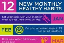 Healthy Habits / It takes time and effort to form a good habit, but it's worth it! What healthy habits are you working on forming? Remember: Always consult with your doctor before making any changes to your diet and exercise programs.  *Pins do not equal endorsement.