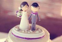 ♥♥ Boda: Cake toppers ♥♥ / Te mostramos una opción diferente para los muñequitos de tortas