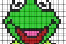 Mönster/Pattern / Pärlor/Beads-Cross stitch
