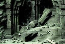 Dwarf-themed scenery / A collection of inspirational images depicting dwarf-themed terrain pieces in the Warhammer World.