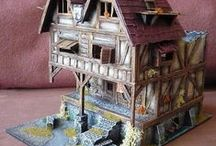 """Dębowa Tarcza""  club scenery! / Here you can find all the awesome Mordheim & EiF/BTB  scenery pieces we own in our  gaming club ;)."