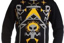 MOB Sweaters / Aliens, Krampus, Cthulhu, Bigfoot, D20, Gremlins, Yeti, Zombie from Middle of Beyond